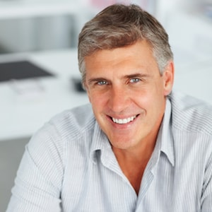 Man with dental bonding a Cosmetic Dentistry in Charlottesville VA service