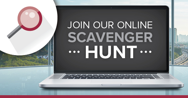 Join our scavenger hunt banner