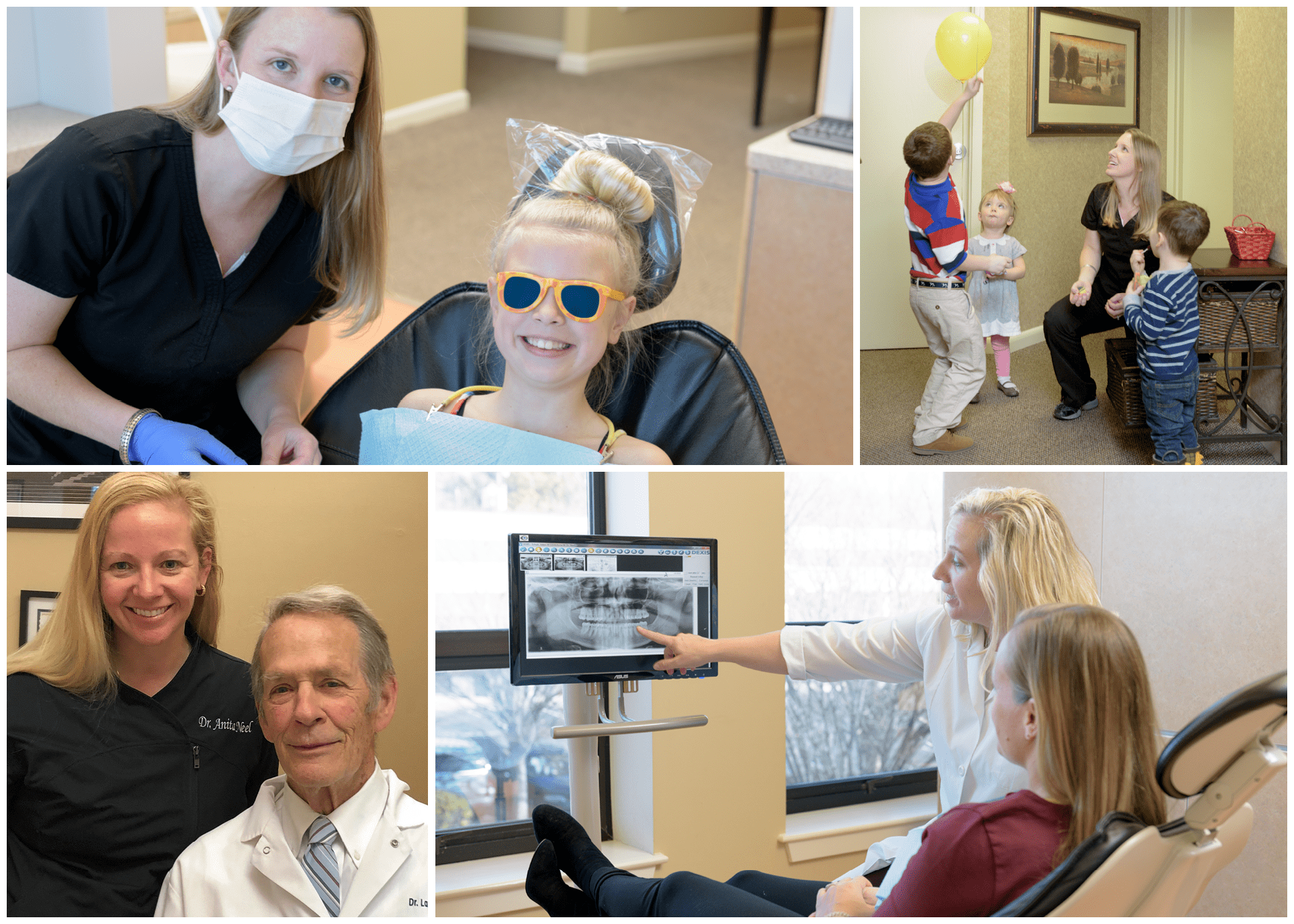 A collage showing the various ways we are a top dentist in Charlottesville VA